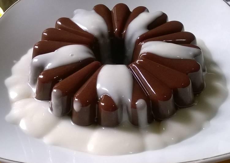 cara membuat puding coklat susu