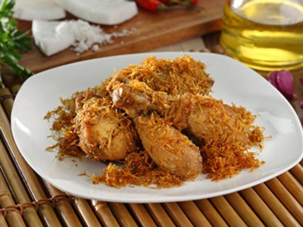 Cara Membuat Ayam Kremes Kelapa